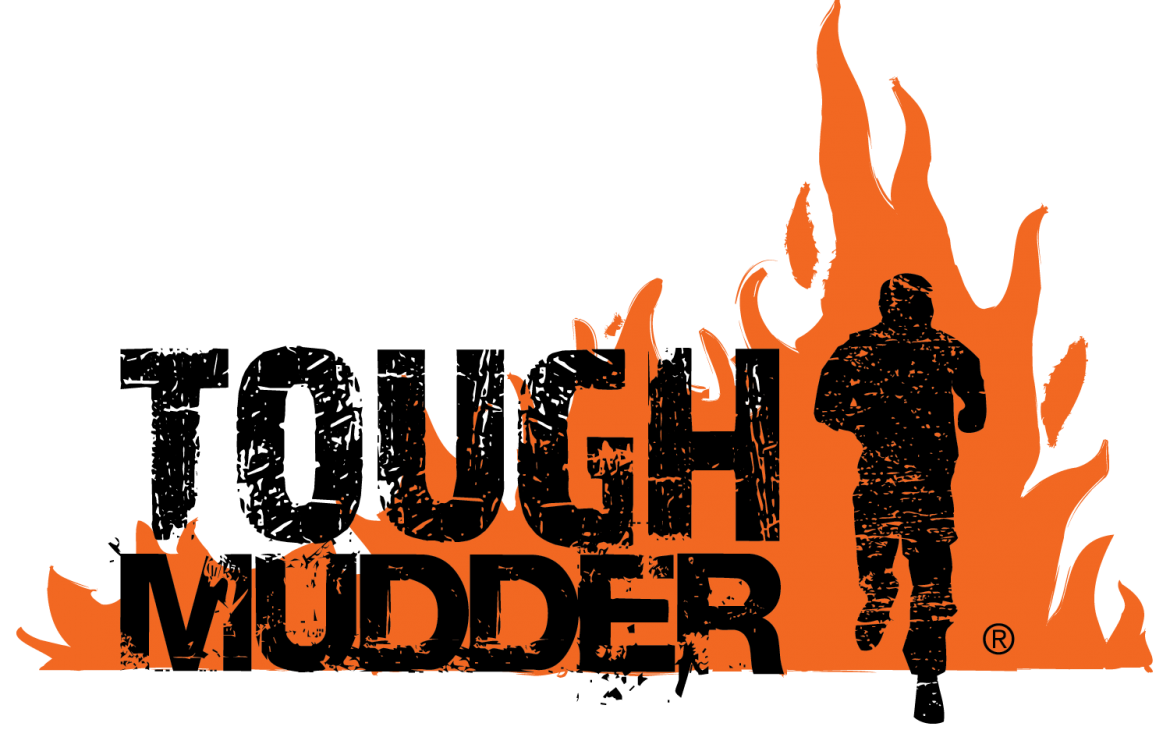 The logo for the Tough Mudder organisation. Showing a competitor running through fire... like they do in the Tough Guy!